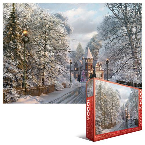 New England Christmas Stroll Christmas Jigsaw Puzzle