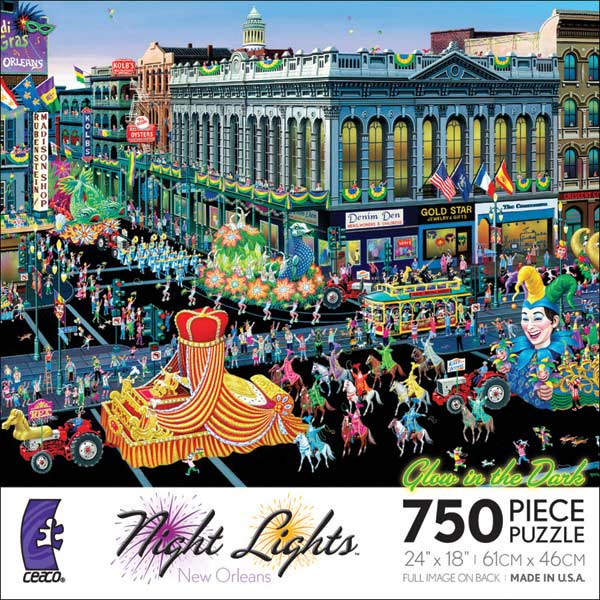 Night Lights - New Orleans Carnival Glow in the Dark Puzzle