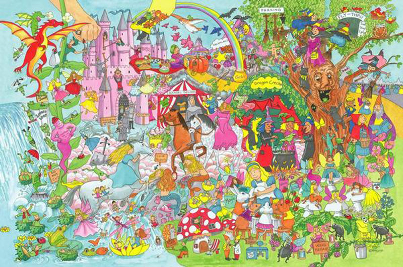 Fantasy Land Floor Puzzle (24pc) - Scratch and Dent Fantasy Jigsaw Puzzle
