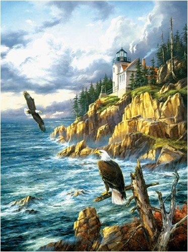On Watch Lighthouses Jigsaw Puzzle