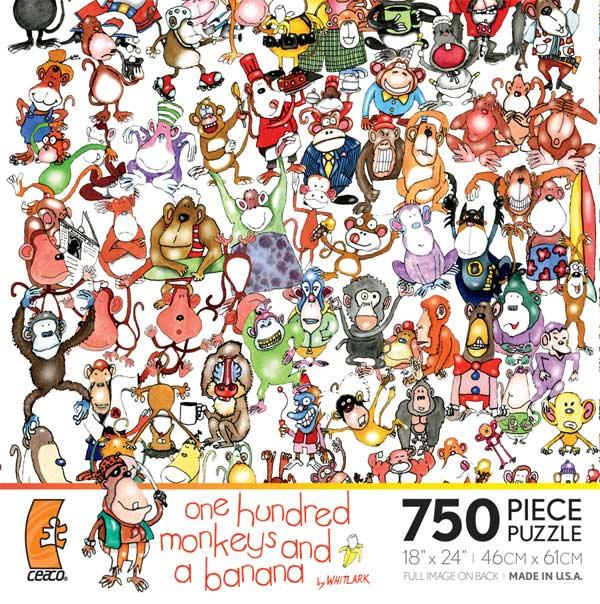 One Hundred Monkeys and a Banana Cartoons Hidden Images