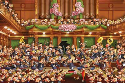 Ruyer - Orchestra Cartoons Jigsaw Puzzle