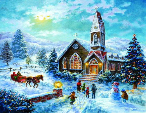 Parents Pray, Children Play Churches Jigsaw Puzzle