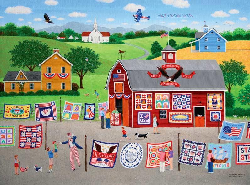 Patchwork America Americana & Folk Art Jigsaw Puzzle