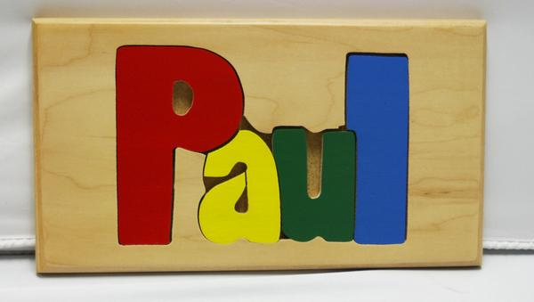Paul Wooden Name Puzzle