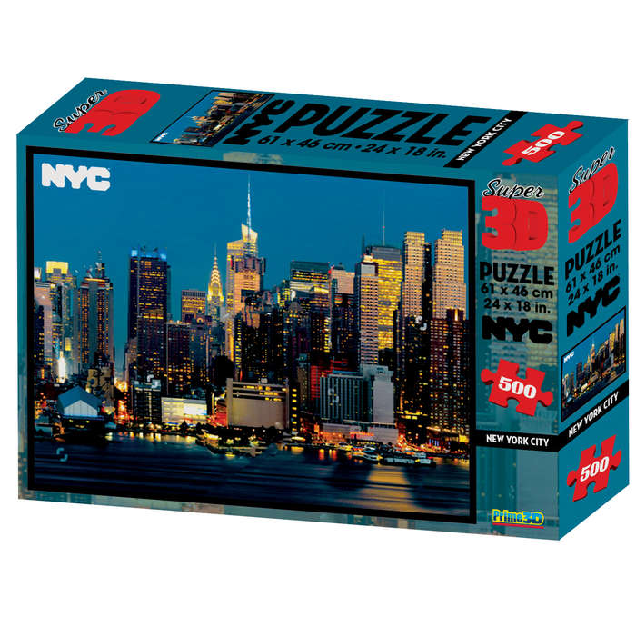 New York City 3D Puzzle New York Jigsaw Puzzle