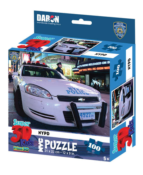 NYC NYPD 3D Puzzle Vehicles Jigsaw Puzzle