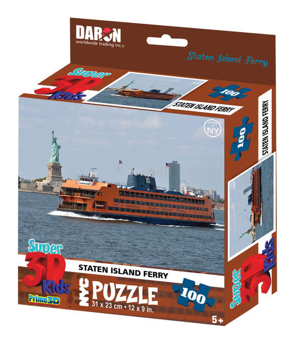 NYC Staten Island Ferry with Statue 3D Puzzle New York Jigsaw Puzzle