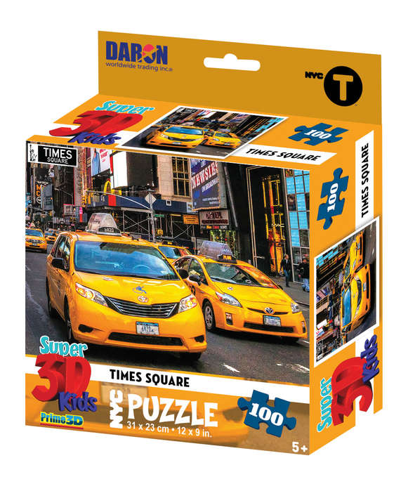 NYC Times Square 3D Puzzle New York Jigsaw Puzzle
