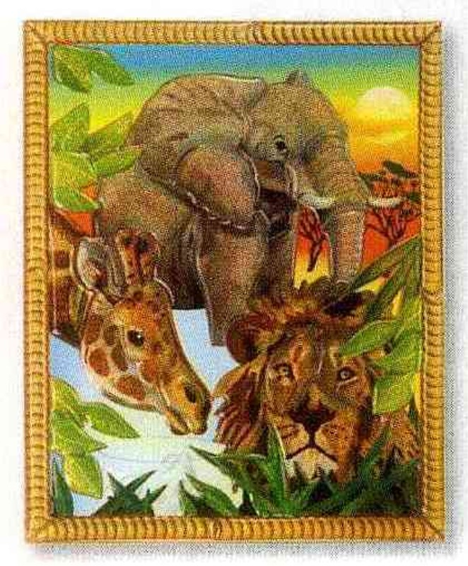 Peel and Press Mini - Safari Animals Miniature Puzzle