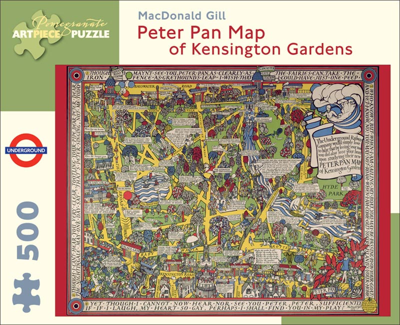 Peter Pan Map of Kensignton Gardens Fantasy Jigsaw Puzzle