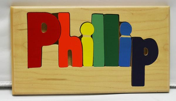 Phillip Wooden Name Puzzle