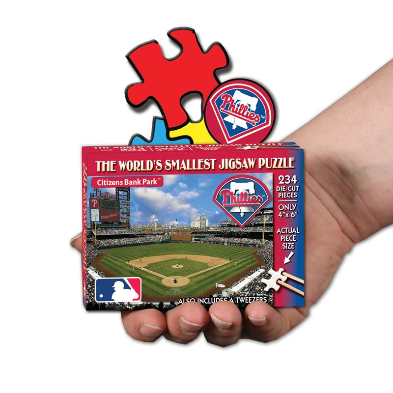 World's Smallest Puzzles MLB - Philadelphia Phillies Sports Jigsaw Puzzle