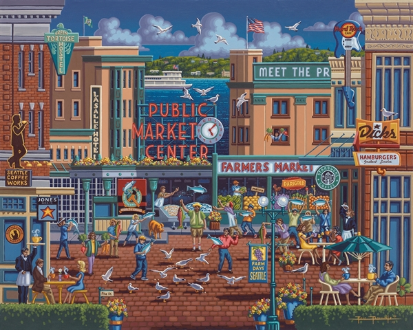 Dowdle - Pikes Market United States Jigsaw Puzzle