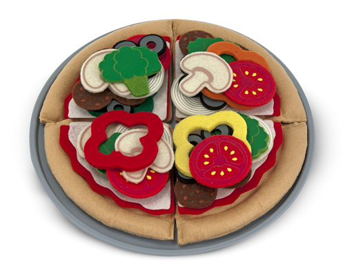 Felt Play Food - Pizza Set Food and Drink Pretend Play