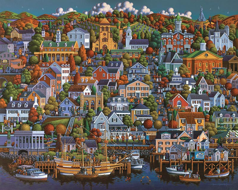 Plymouth Landmarks / Monuments Jigsaw Puzzle