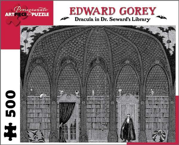 Dracula in Dr. Seward's Library Halloween Jigsaw Puzzle