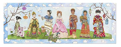 Princesses of the World - Floor Puzzle Cultural Art Children's Puzzles