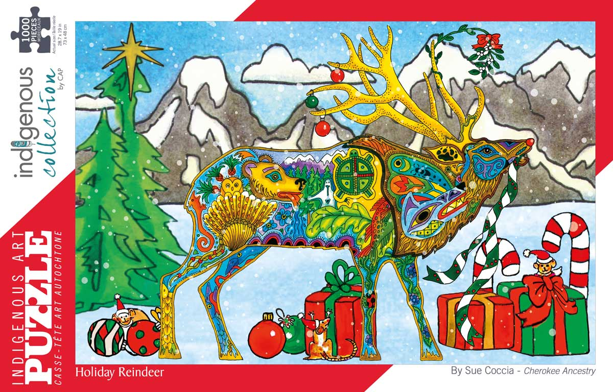 Holiday Reindeer Native American Jigsaw Puzzle