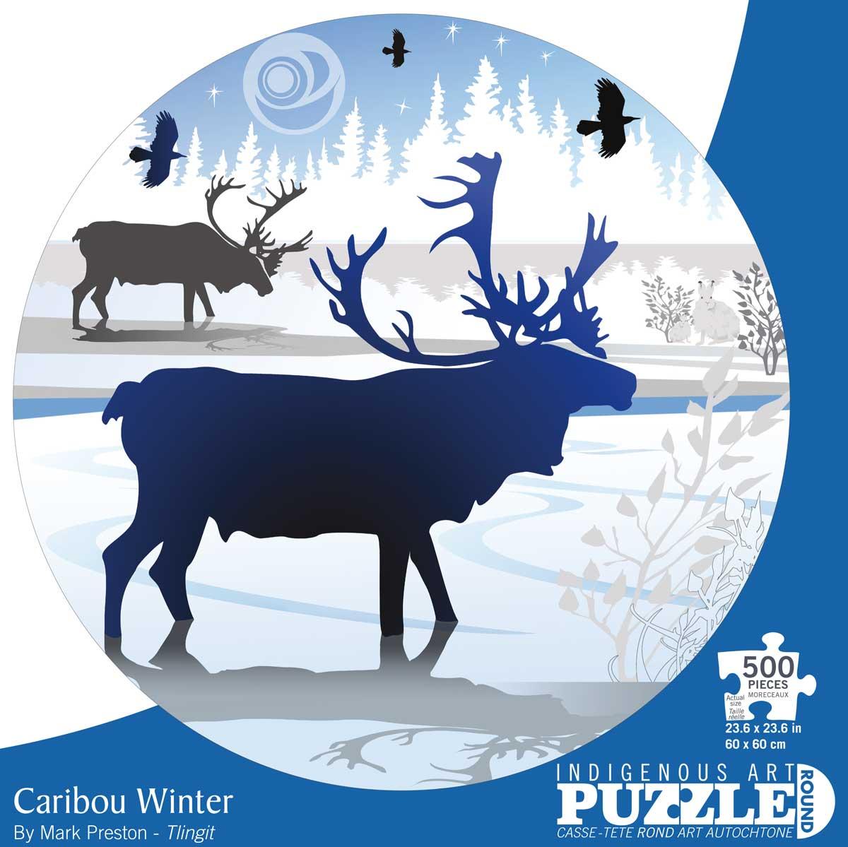 Caribou Winter Wildlife Jigsaw Puzzle