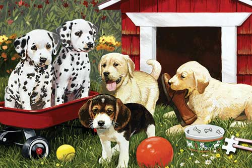 World's Smallest Puzzles - Puppy Playmates Dogs Jigsaw Puzzle