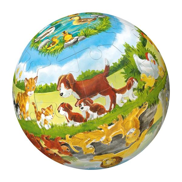 Puzzleball - Animals & Their Babies (40pc) Other Animals Children's Puzzles
