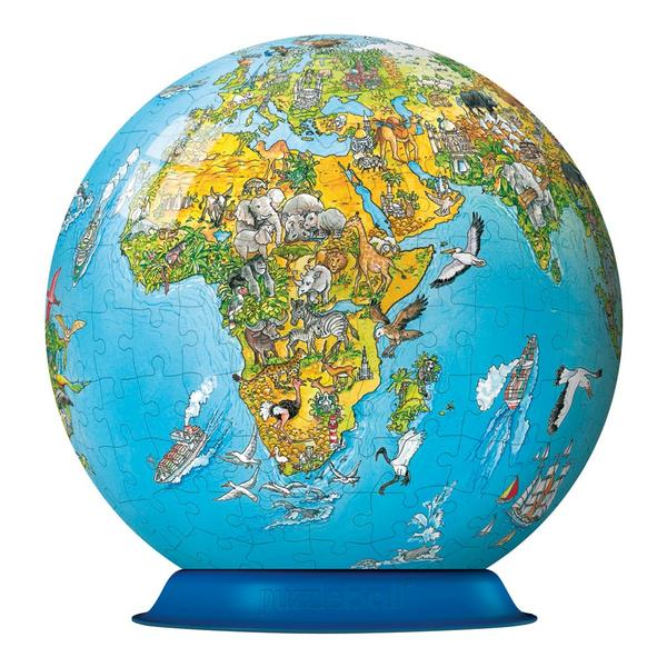 Puzzleball - Illustrated World Map (270pc) Maps Children's Puzzles