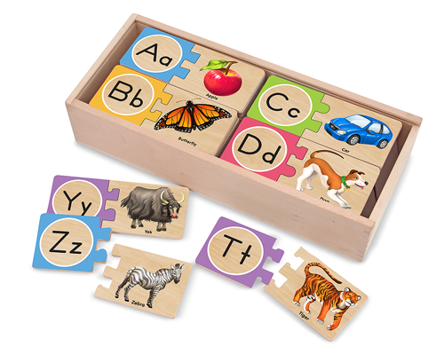 Self-Correcting Alphabet Letter Puzzles Educational Jigsaw Puzzle