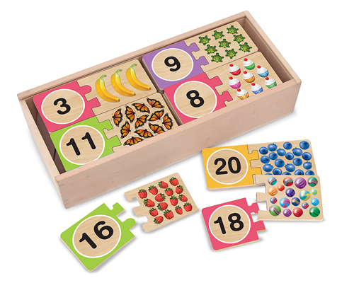 Self-Correcting Number Puzzle Educational Wooden Jigsaw Puzzle