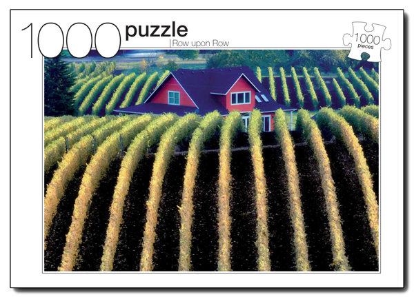 Row Upon Row Countryside Jigsaw Puzzle