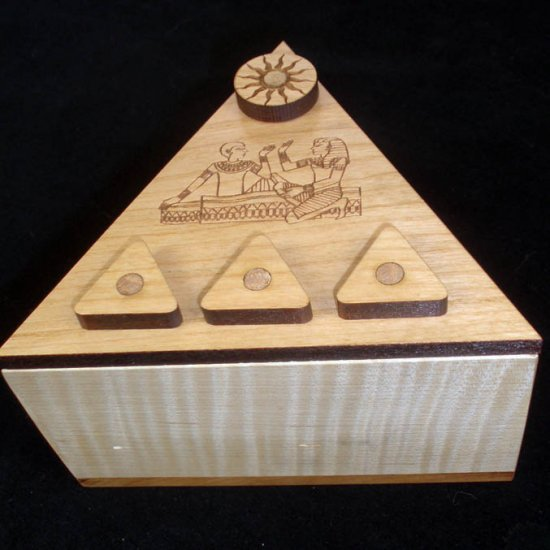 Pyramid Secret Lock Puzzle Box Puzzlewarehouse Com