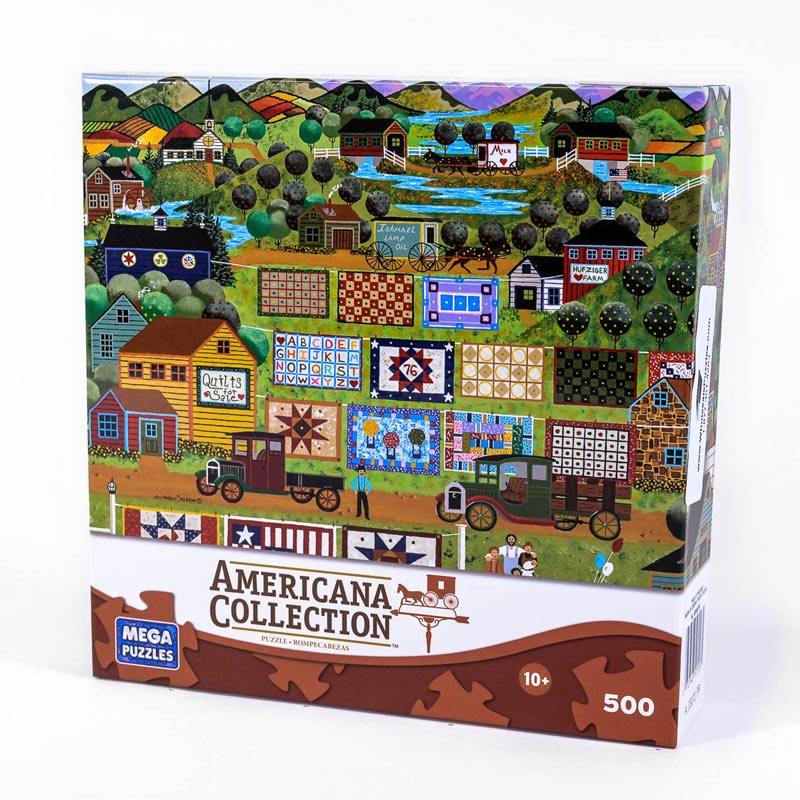 Americana Collection - Quilts for Sale Americana Jigsaw Puzzle