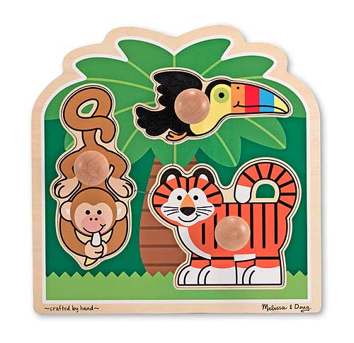 Rainforest Friends Jumbo Knob Tigers Children's Puzzles