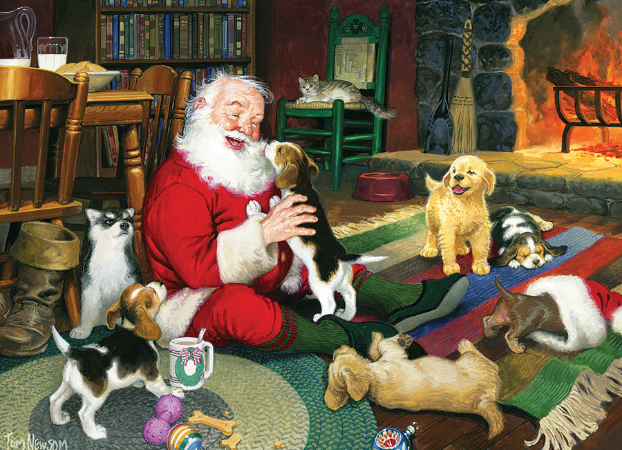 Santa's Playtime Dogs Jigsaw Puzzle