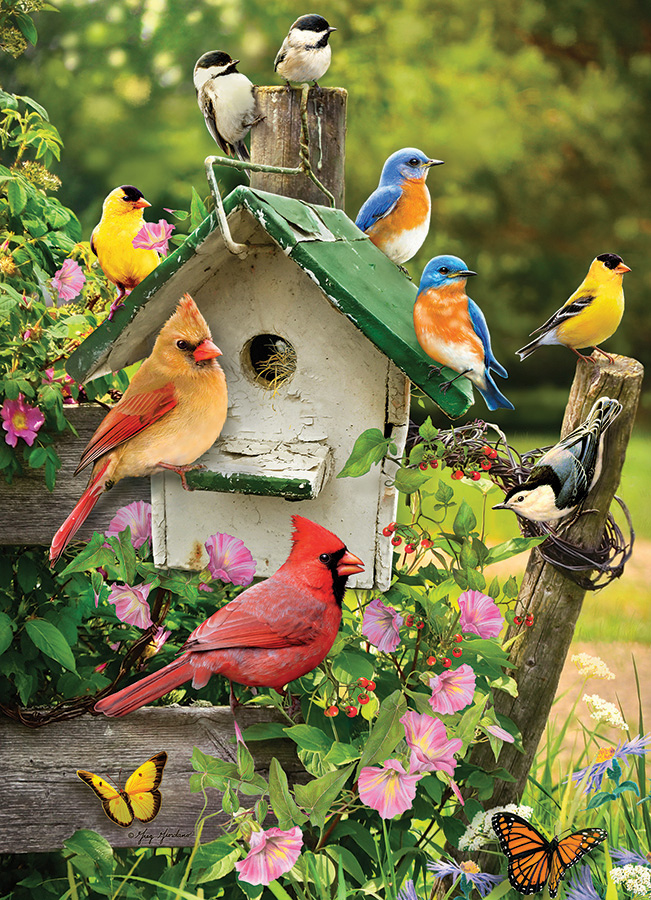 Summer Birdhouse Birds Jigsaw Puzzle