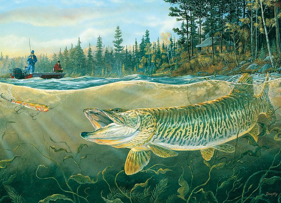Muskie Bay Fishing Jigsaw Puzzle