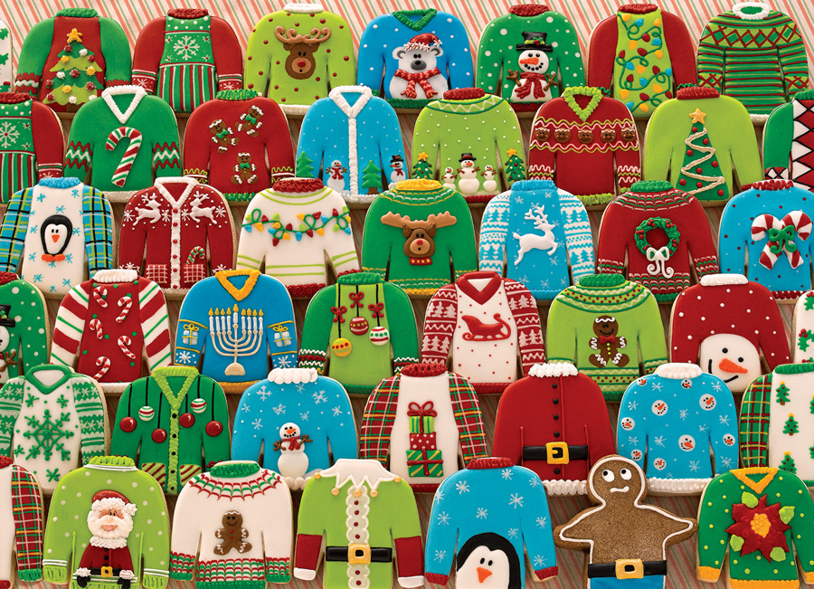 Ugly Xmas Sweaters Food and Drink Jigsaw Puzzle