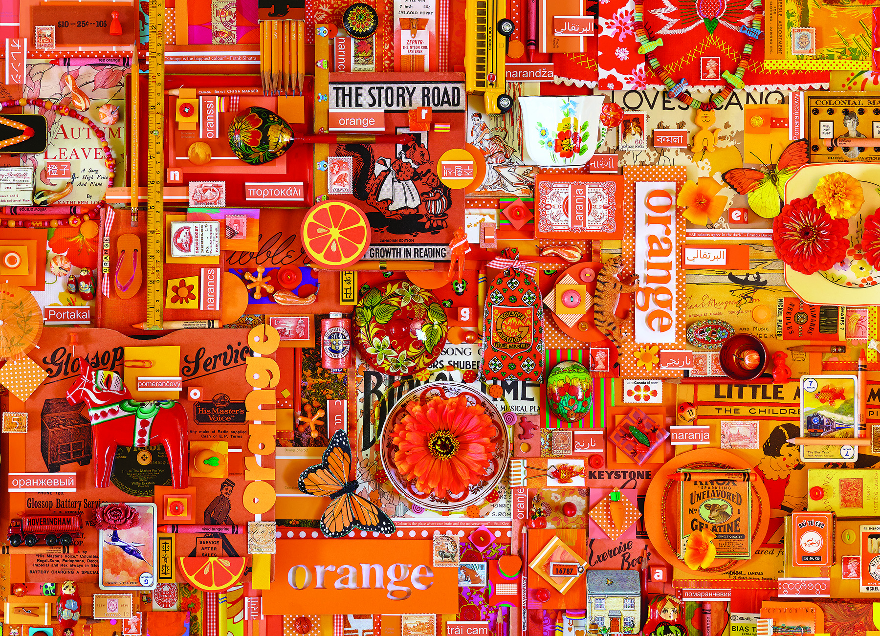 Orange Collage Jigsaw Puzzle