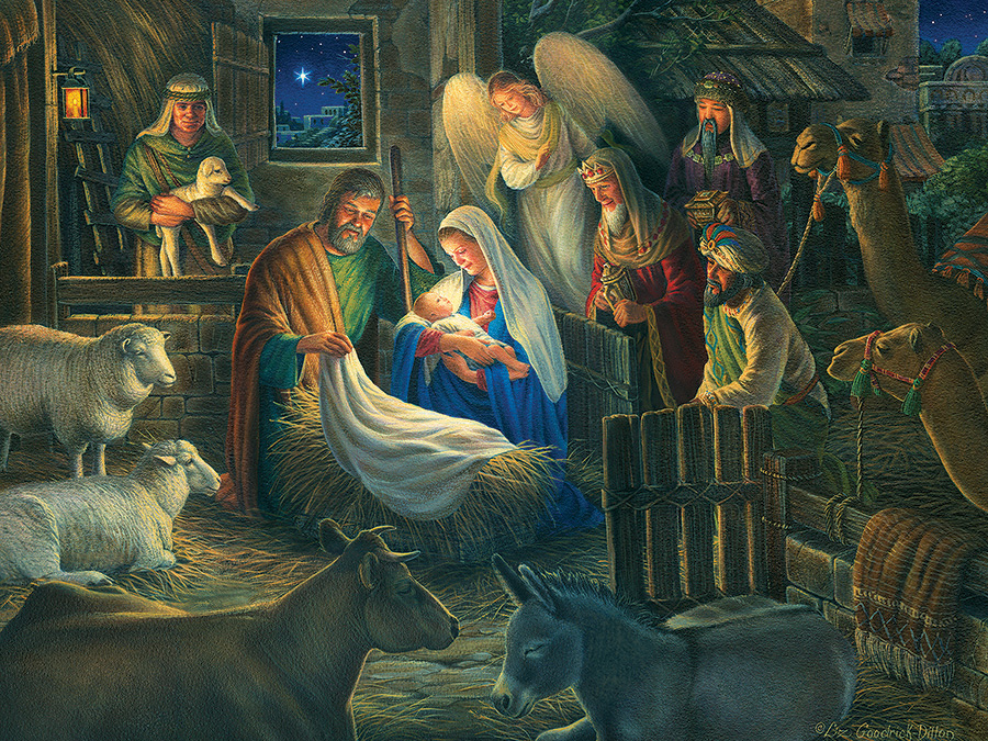 Away in a Manger Animals Jigsaw Puzzle
