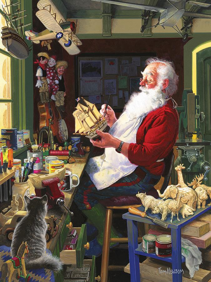 Santa's Workbench Santa Jigsaw Puzzle