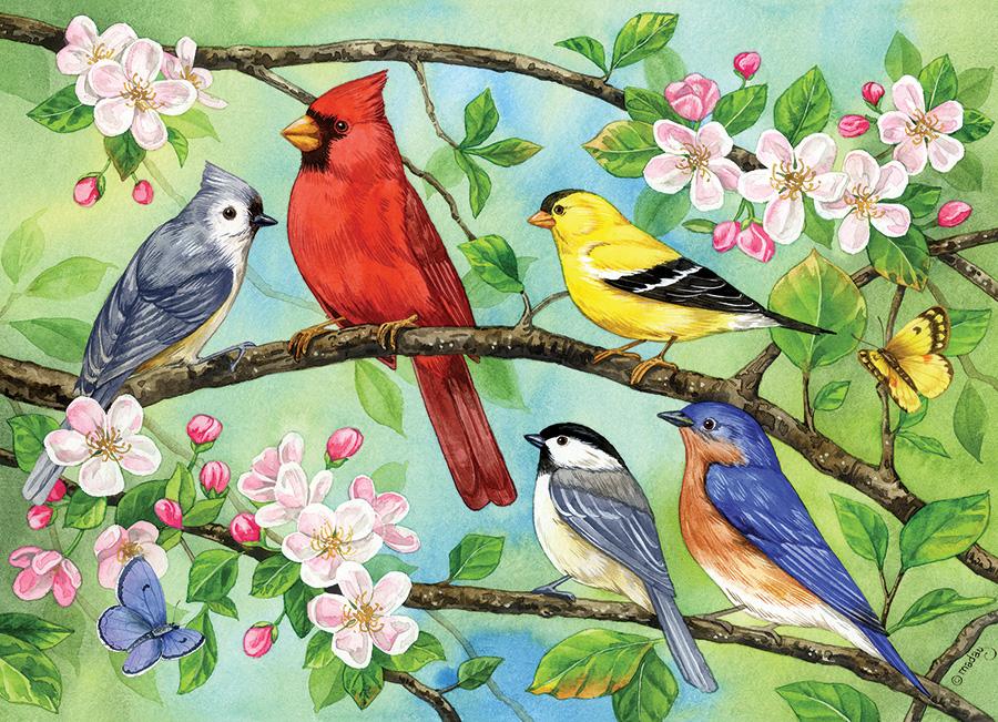 Bloomin' Birds Birds Jigsaw Puzzle