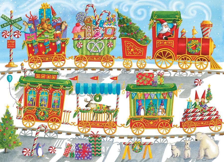 Christmas Train Christmas Jigsaw Puzzle