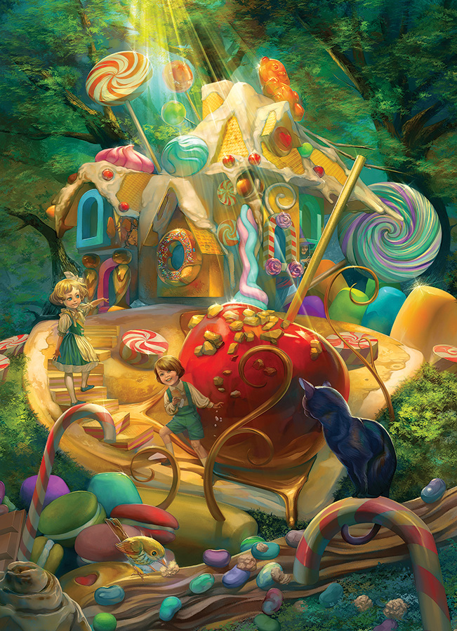 Candy Cottage Fantasy Jigsaw Puzzle