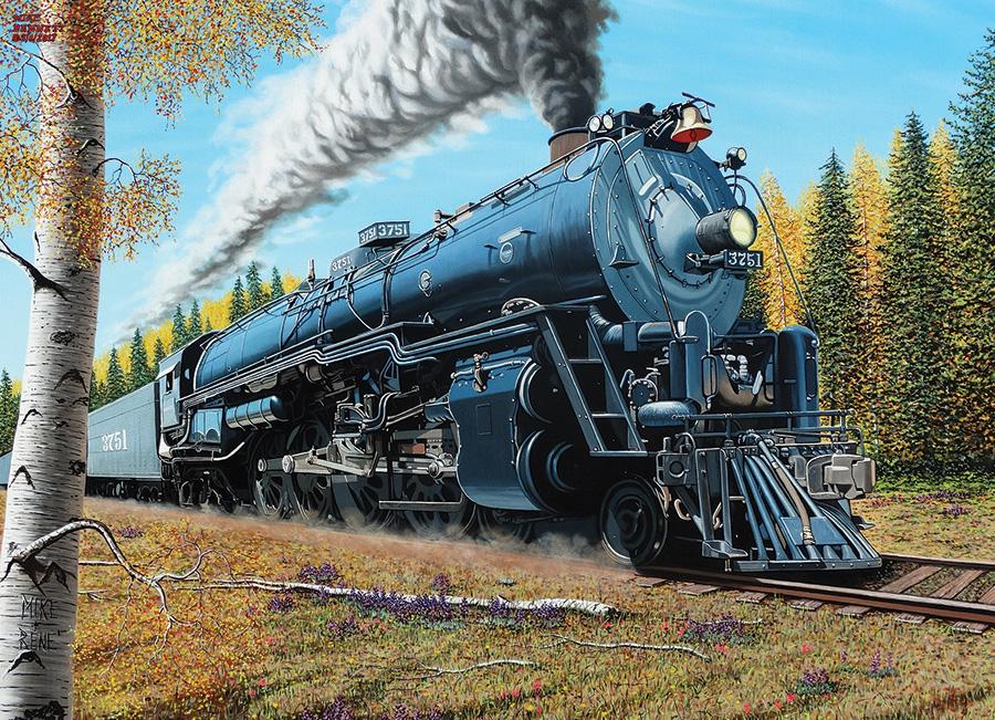 Santa Fe 3751 Trains Jigsaw Puzzle