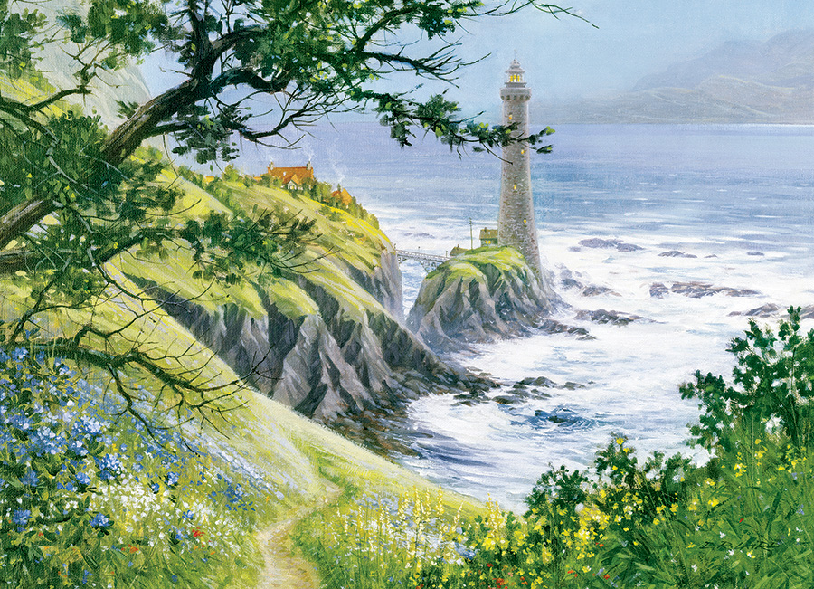 Summer Lighthouse Lighthouses Jigsaw Puzzle