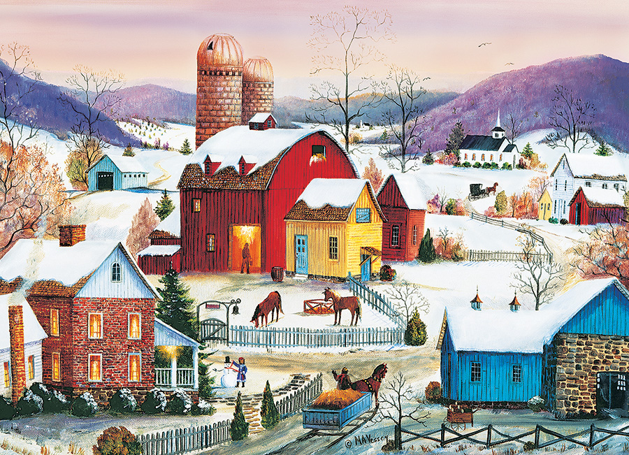 Winter Neighbors Farm Jigsaw Puzzle