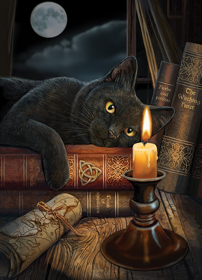 The Witching Hour Cats Jigsaw Puzzle