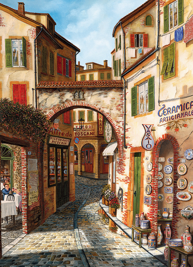 Ceramica Street Scene Jigsaw Puzzle