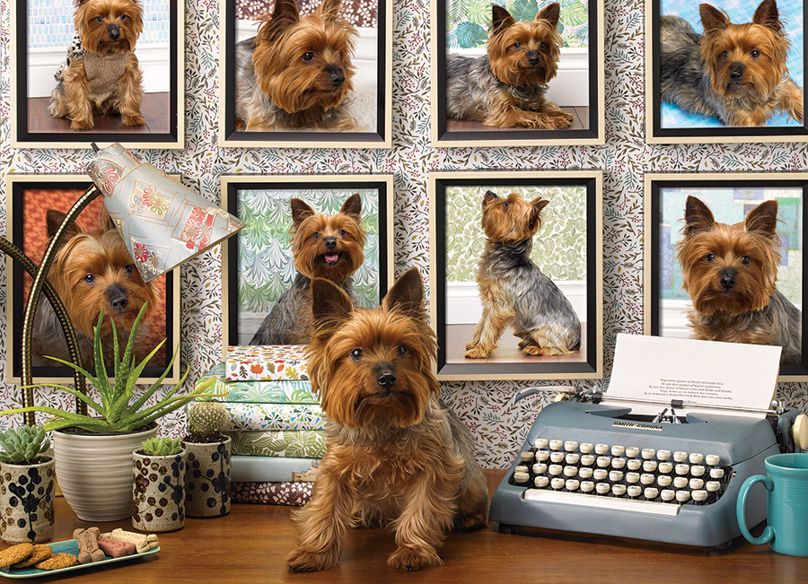 Yorkies Are My Type Dogs Jigsaw Puzzle