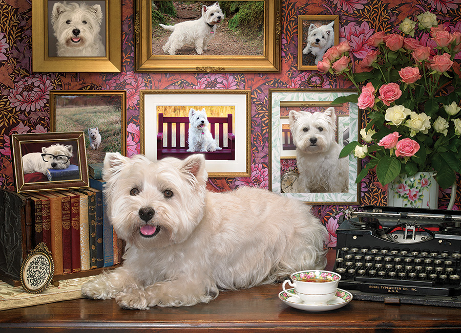 Westies Are My Type Dogs Jigsaw Puzzle